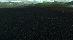 Black Single Lane Country Road ICELAND Stock Footage
