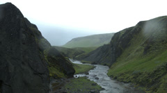 Deep Gully in the Mountains of ICELAND Stock Footage