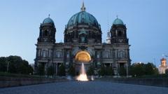 Berlin Cathedral Church evening timelapse establishing shot Stock Footage