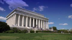 Grand Wide Shot on the Lincoln Memorial Stock Footage