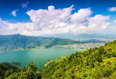Beautiful Asian landscape - stock photo