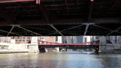 View from the Chicago river Stock Footage