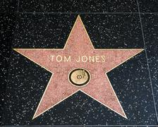 Tom Jones Star on the Hollywood Walk of Fame - stock photo