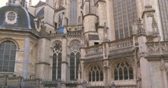The Cathedral of St. Michael and St. Gudula, Brussels Stock Footage