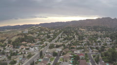 Aerial Shot of Chatsworth at Sunset Stock Footage