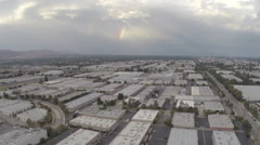 Aerial Shot of Chatsworth with Rainbow Stock Footage