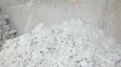 White sulphate pouring storage Stock Footage