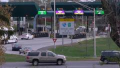 Busy Pennsylvania Turnpike Interchange Stock Footage
