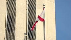 Florida Flag At Capitol Building In Tallahassee Stock Footage