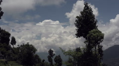 Clouds in the Himalayas, long shot - stock footage