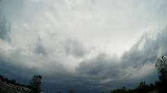 Wall cloud approaching camera as storm comes in Stock Footage
