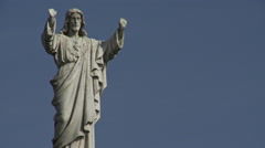 Religious statue Stock Footage
