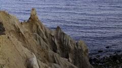 Montauk Point Sea Cliffs Stock Footage
