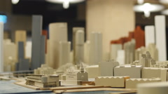 Minature scale plans of Sydney 2 4K Stock Footage