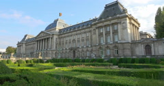 The Royal Palace of Brussels Stock Footage