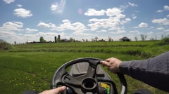 2.7k lawn tractor unique chest view Stock Footage