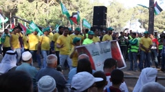 Stock Video Footage of Arab Israelis parade during Nakba Day, a commemoration