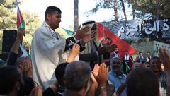 Stock Video Footage of Arab Israelis imitate wedding in commemoration of dead bridegroom