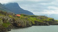 Striking Eastern Fjord of ICELAND Stock Footage