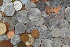 Mixed Coins Stock Photos