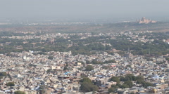 Panoramic view of Jodhpur cityscape from Mehrangarh fort. Stock Footage
