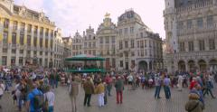 Brussels (Bruxelles) - is the capital and largest city of Belgium Stock Footage
