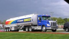Sunoco Gas delivery fuel truck Stock Footage