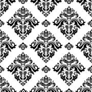 Seamless Orient Vector Background - stock illustration