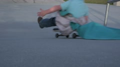 Blanket Skateboard Stock Footage