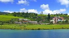 Landscape with Gregory lake in Sri Lanka 4k Stock Footage