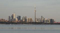 Toronto skyline on a spring afternoon /Establishing shot Stock Footage