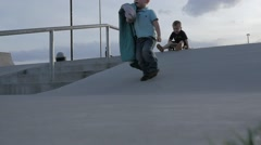 Blaket at the Skate Park Slow Motion. Stock Footage