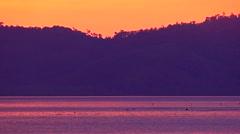 Sea coast in sunset light Stock Footage