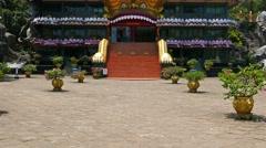 Dambula golden temple in Sri lanka 4k Stock Footage