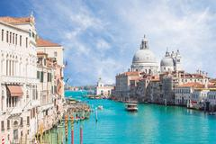 The Grand Canal and Basilica Santa Maria della in Venice, Italy Stock Photos