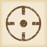Stock Illustration of Grungy target icon