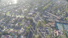 Aerial Shot of Westlake Inn and Homes with Tennis Courts Stock Footage