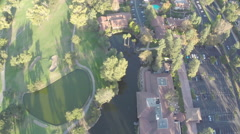 Aerial Shot of Westlake Inn with Tennis Courts Stock Footage