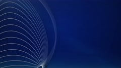 White vector lines blue abstract motion background Stock Footage