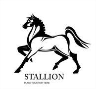 Horse, Stallion, Standing Horse - stock illustration
