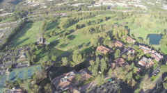 Aerial Shot of Westlake Inn and Golf Course Stock Footage