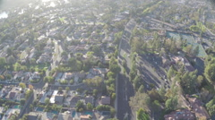 Aerial Shot of Westlake Inn with Homes and Tennis Courts Stock Footage