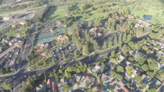 Aerial Shot of Westlake Inn and Golf Course with Homes Stock Footage