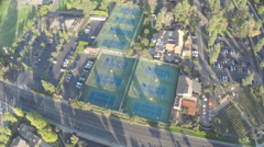 Aerial Shot of Westlake Inn and Tennis Golf Stock Footage