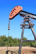 Oil Pump Jack (Sucker Rod Beam) - stock photo