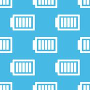Blue charged battery pattern - stock illustration