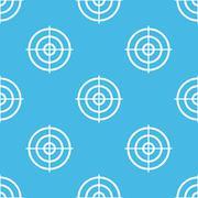 Blue aim pattern - stock illustration