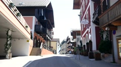 Stock Video Footage of The cozy alpine town - Austrian architecture