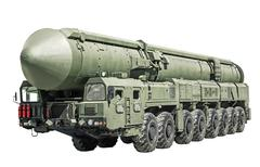 intercontinental ballistic missile mobile - stock photo