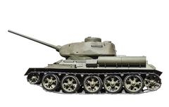 Legendary Soviet tank T-34-85 at war in the second world war Stock Photos